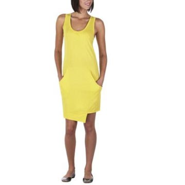 Go International Tank Tunic Dress in Safety Yellow