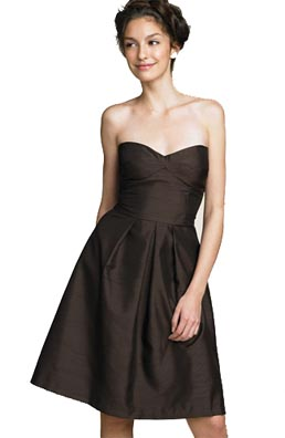 Velvet Torch Shantung Bustier Dress
