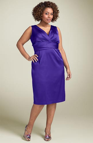 Donna Ricco Stretch Satin Sheath Dress