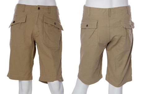 Engineered Garments Khaki Norweigian Shorts