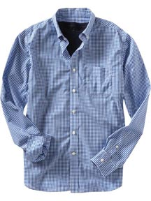 Fitted Gingham Checked Shirt at Gap