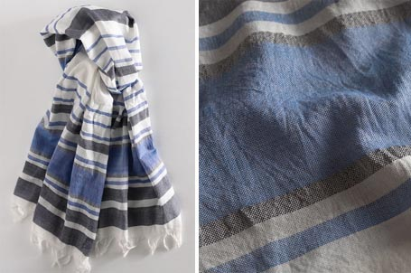 Multi-Stripe Cotton Scarf