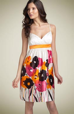 Muse Watercolor Silk Print Dress