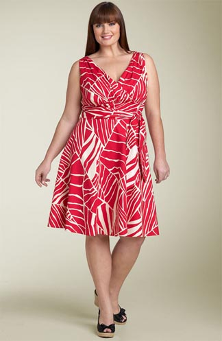 Suzi Chin Maggy Boutique Leaf Print Dress