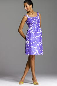 Brushstroke Print Sydney Dress