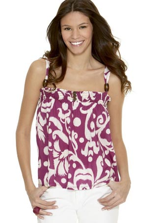 Fire Ikat Print Tank Top