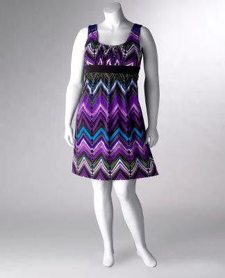 Multicolor Zig Zag Stripe Dress