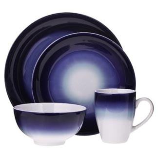 Ombre 16 Piece Dinnerware Set