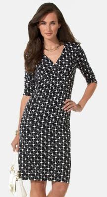 Petite Abstract Balloons Printed Knit Dress