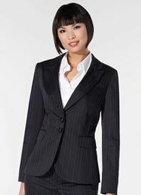 Pinstripe Two Button Jacket