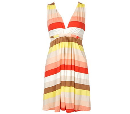 Retro Stripe Knit Dress