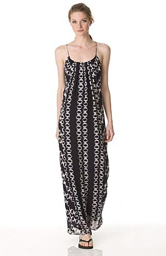 Vince Women's Ikat Maxi Printed Dress