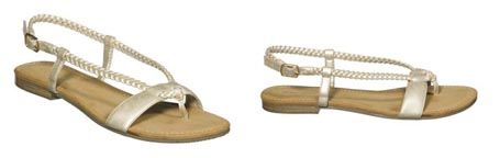 Xhilaration Thea Sandals in Gold