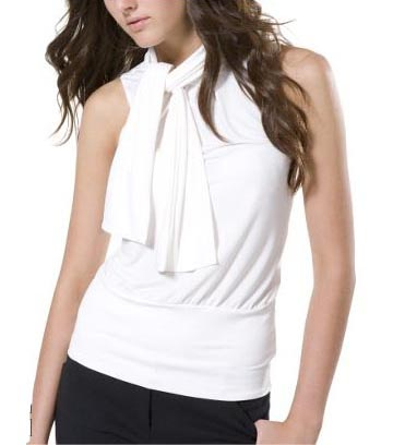 Sleeveless Neck-Tie Top