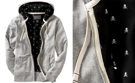 Mens Printed Lining Hoodies