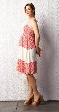 Maternity Smocked Empire Waist Dress