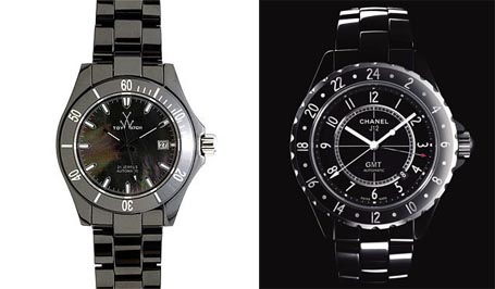 Ceramic Watch and Chanel J12