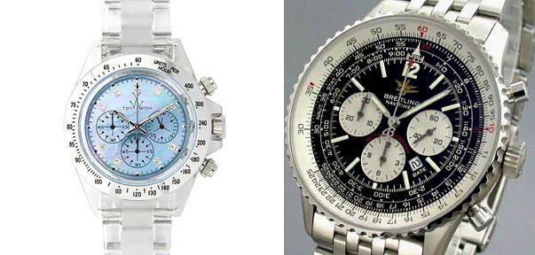 Mother of Pearl Chrono and Breitling Navitimer