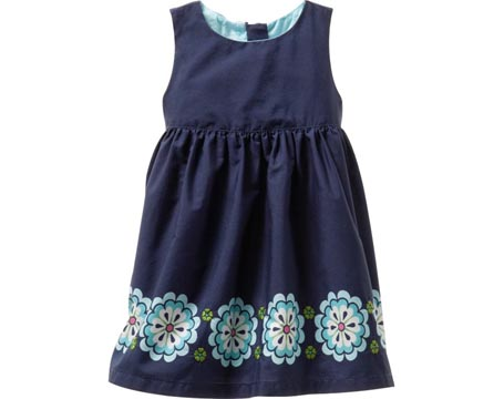 Flower Border Dress