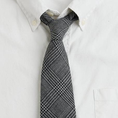 Glen Check Wool Cambridge Tie