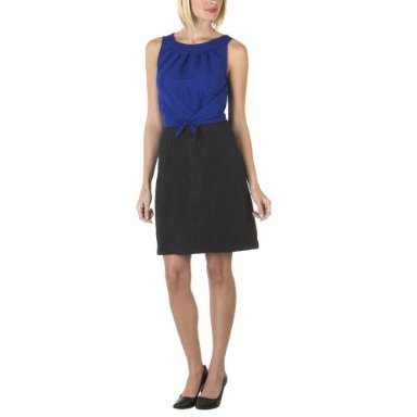 Richard Chai Colorblock Tie Front Dress