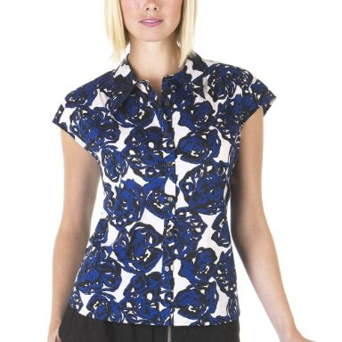 Richard Chai Rose Print Top