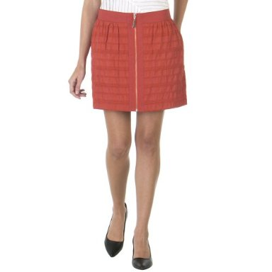 Richard Chai Windowpane Miniskirt