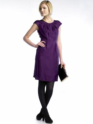Silk Cap Sleeve Lady Dress