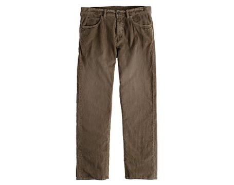 Straight-fit 5-pocket Vintage Cord