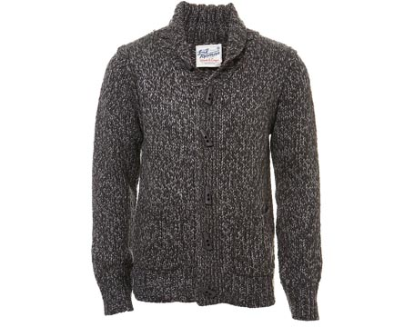 Knitted Grey Toggle Cardigan