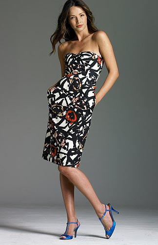 Abstract Rose Print Dress