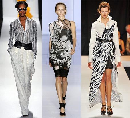 Spring 2009 Fashion Week Trend: Black and White Pattern