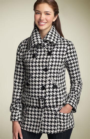 Coffee Shop Houndstooth Coat