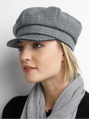 newsboy cap fashion. Houndstooth Newsboy Hat | $39