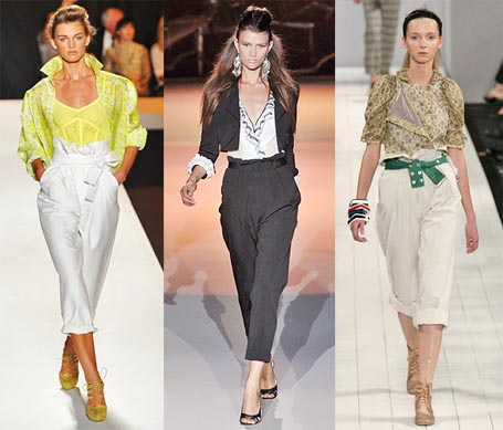 Spring 2009 Fashion Week Trend: Paperbag Waistline