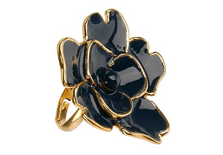 Polished Flower Ring