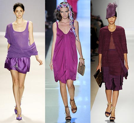 Spring 2009 Fashion Week Trend: Purple