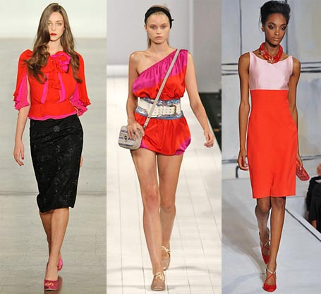 Spring 2009 Fashion Week Trend: Red and Pink