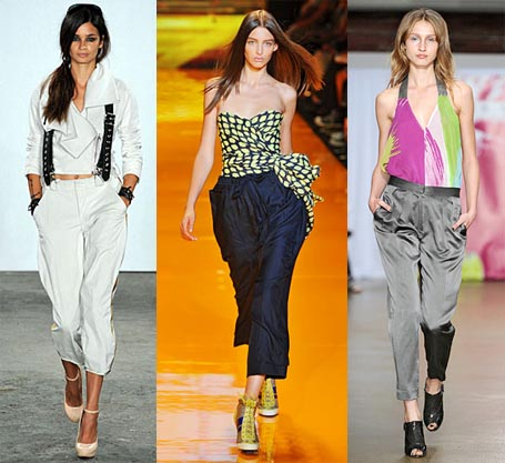 Spring 2009 Fashion Week Trend: Slouchy Trouser Pants