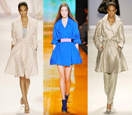 Spring 2009 Fashion Week Trend: Flared Trenchcoat