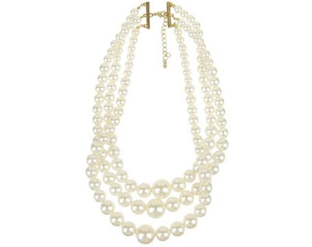Tri Strand Pearl Necklace