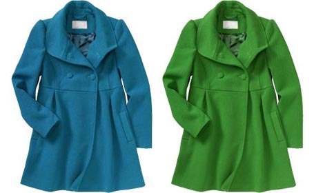 Womens Pique Wool Blend Coat