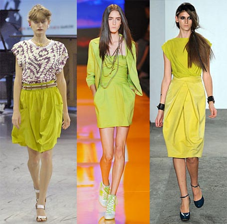 Spring 2009 Fashion Week Trend: Yellow Green