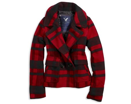 AE Buffalo Check Peacoat