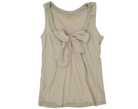 Gray Bowtie Tank - Omiru: Style for All :  bowtie tank