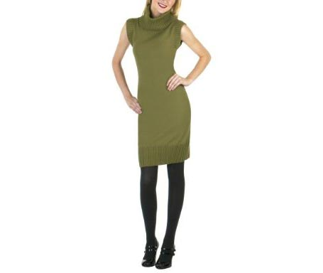 JNSDS Sleeveless Sweater Dress Cilantro