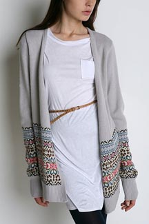 Ecote Fairisle Open Cardigan