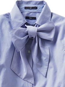 Fitted Tie Neck Shirt