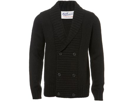 Knitted Black Button Cardigan