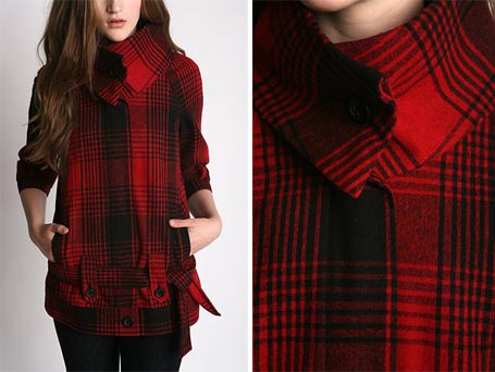 Ombre Plaid Coat